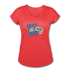 Women's V-Neck Tri-Blend T-Shirt by DaQuan Jones