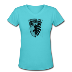 Women's V-Neck T-Shirt by Rennie Curran