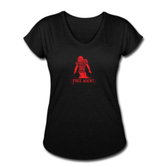 Women's V-Neck Tri-Blend T-Shirt by Rennie Curran