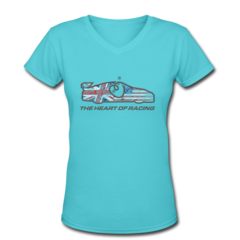 Women's V-Neck T-Shirt by Ian James