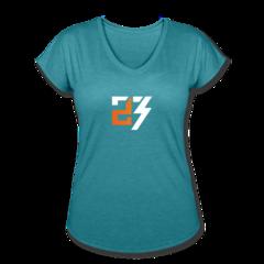 Women's V-Neck Tri-Blend T-Shirt by Drew Snider