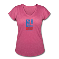 Women's V-Neck Tri-Blend T-Shirt by Nigel Talton