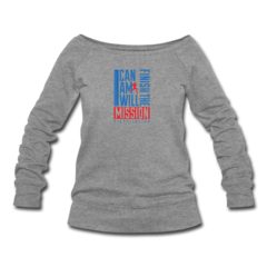 Women's Wideneck Sweatshirt by Nigel Talton