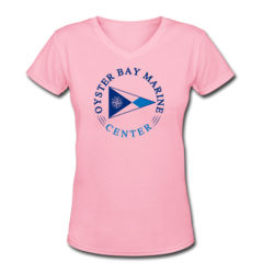 Women's V-Neck T-Shirt by Oyster Bay Marine Center