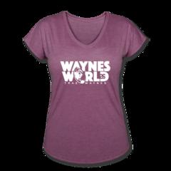 Women's V-Neck Tri-Blend T-Shirt by Trae Waynes