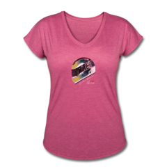 Women's V-Neck Tri-Blend T-Shirt by Justin Wilson