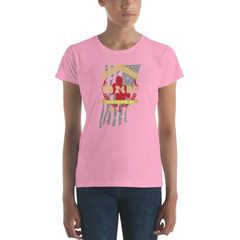 880 Ladies Ringspun Fashion Fit T-Shirt with Tear Away Label