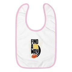 1004 Embroidered Baby Bib