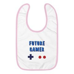 1004 Embroidered Baby Bib